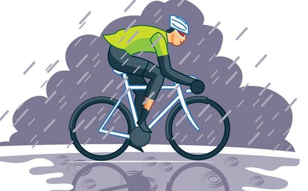 Cu bicicleta pe ploaie: cum ne pregatim